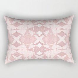 Pastel Coral Ancient Near East Geometric Rectangular Pillow