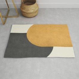 Halfmoon Colorblock - Gold Charcoal Rug