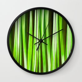 Tropical Green Riverweed Wall Clock