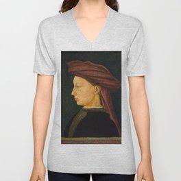 Portrait of a Young Man, 1430/1450 |  Florentine 15th Century art Unisex V-Neck