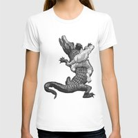 wrestling T-shirts featuring Crocodile wrestling! by Noughton