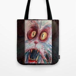 scared zombie cat Tote Bag