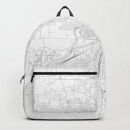 Grand Rapids Map, Art Print By LandSartprints Backpack