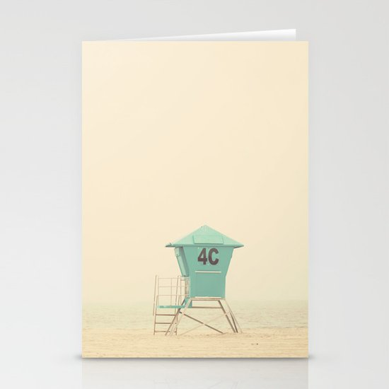 the sound of outer ocean on a beach ... Stationery Cards