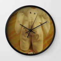 ellie goulding Wall Clocks featuring Ellie by Dymond Speers