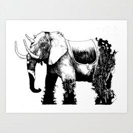 Elephant Machine God Art Print