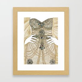Diamonds dress Framed Art Print
