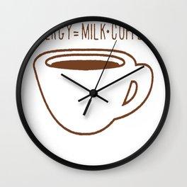 E=MC COFFEE T-SHIRTS Wall Clock