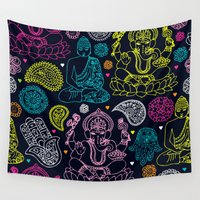 spiritual Wall Tapestries featuring All The Spiritual Things by MY  HOME