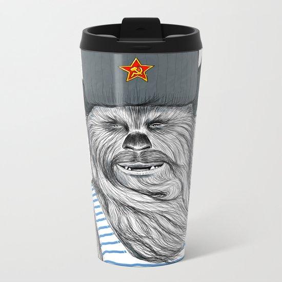 Russian Chewbacca Metal Travel Mug