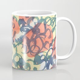 abstract pattern red yellow and blue loops Coffee Mug