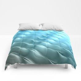 Blue Satin Ripple Comforters