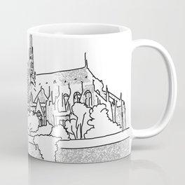 Notre Dame and Eiffel Tower travel scene Coffee Mug