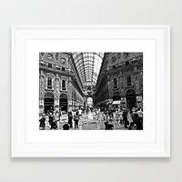 milan Framed Art Prints featuring Milan by Gianluca Testa