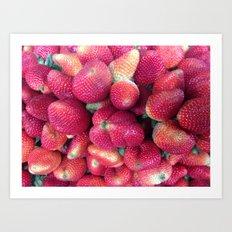 Strawberries in Paloquemao - Fresas en Paloquemao Art Print