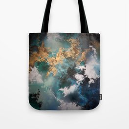 Nightmares of a Dream (Acrylic Abstract Metallic Palette Knife Painting) Tote Bag