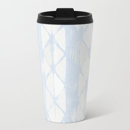 Simply Braided Chevron Sky Blue on Lunar Gray Travel Mug