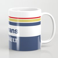 senna Mugs featuring Williams F1 Rothmans Ayrton Senna by Krakenspirit