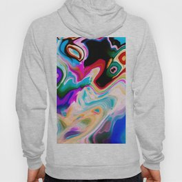 Colorful Abstract Marble Swirls Hoody