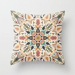 Hacienda style mandala Throw Pillow