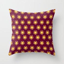 Snazzy Seminoles - Garnet & Gold FSU Print Throw Pillow