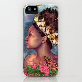 Bougainvillea and Butterflies  iPhone Case