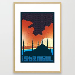 Istanbul Graphic - Rectangle Framed Art Print