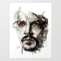 johnny depp Art Prints featuring Johnny Depp by KlarEm