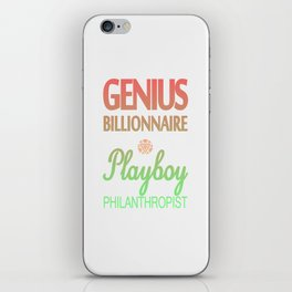 GENIUS TONY iPhone Skin