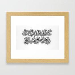 Comic Sans Beauty: Low-Poly Heightmap Framed Art Print
