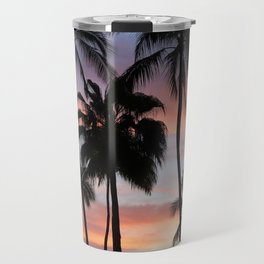 Tropical Palm Trees Sunset in Mexico Travel Mug