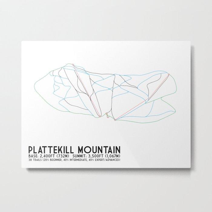 Plattekill, NY - Minimalist Trail Art Metal Print