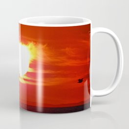 Heart Shaped Sunset Coffee Mug