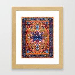 N86 - Vintage Boho Berber Moroccan Handmade Style Design. Framed Art Print