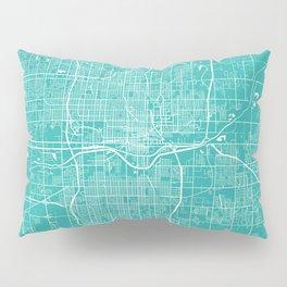 Oklahoma City map turquoise Pillow Sham