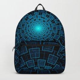 Circular Abstract Fractal Pattern Backpack