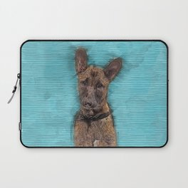 Belgian Malinois Puppy Sketch - Mechelaar Laptop Sleeve