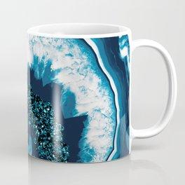 Blue White Agate with Blue Glitter #1 #gem #decor #art #society6 Coffee Mug
