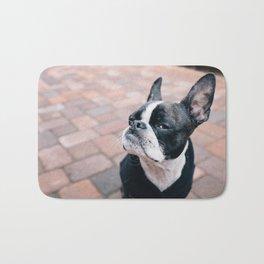 Bruce the Boston Terrier Pug Bath Mat
