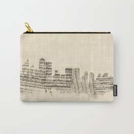 Sydney Australia Skyline Sheet Music Cityscape Carry-All Pouch