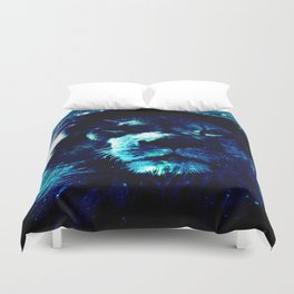 Galaxy Lion Duvet Cover