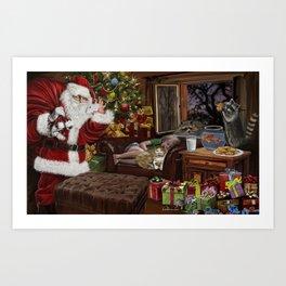 Snappy Santa Art Print