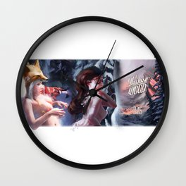 Holidays Postcard Wall Clock