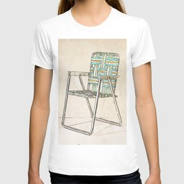 Digital Retro Relic Classic Lawnchair Digital Art Sodaartstudio T-shirt
