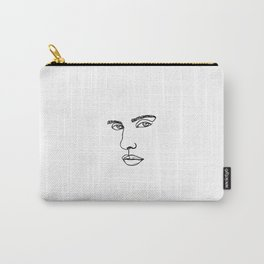 One line face illustration - Xenia Carry-All Pouch