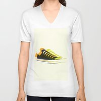shoes V-neck T-shirts featuring shoes by Lyndi888
