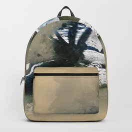 Watercolor Brown Pelican Backpack