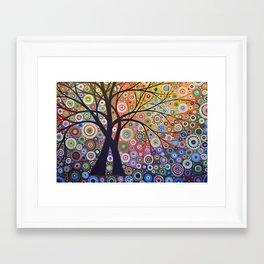 Abstract Art Landscape Original Painting ... Magic Garden Framed Art Print