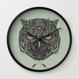 Warrior Owl Face Wall Clock