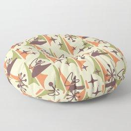 Mid Century Modern Cosmic Boomerang 726 Brown Orange and Green Floor Pillow